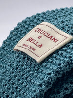 Cruciani & Bella 100% Knitted Silk Light Green tie Handmade in Italy 6 cm x 147 cm