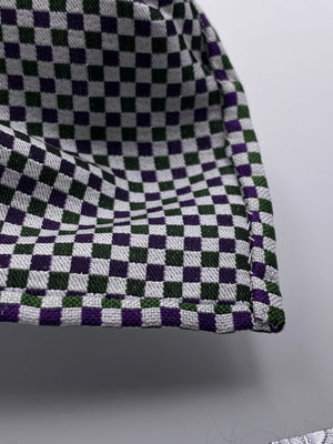 Cruciani & Bella - Woven Jacquard Silk - Green and Purple Optical Unlined Tie #0146