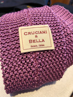 Cruciani & Bella - Knitted Silk- Light Plum tie
