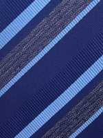 Cruciani & Bella - Silk - Blue, Grey and Light Blue Stripe Tie #4447