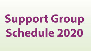 2020 Support Group Schedule