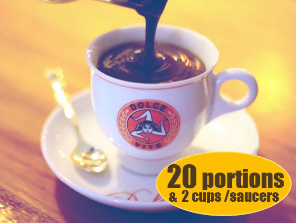 Dolce Vite Chocolatto® 20 Portions + 2 Cups/Saucers!