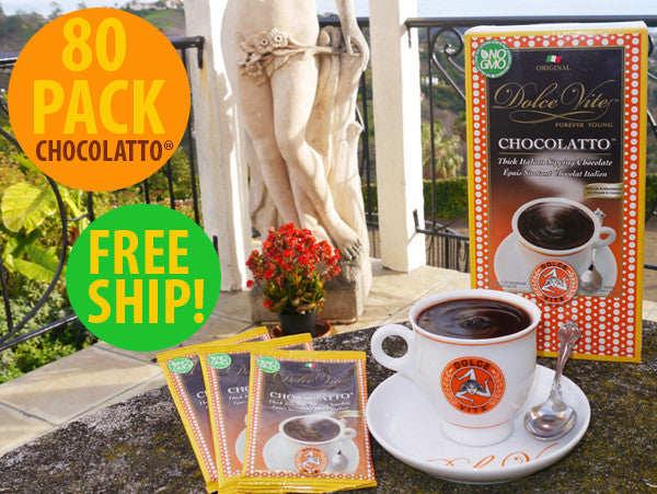 FOR CAFE - Dolce Vite Chocolatto® 6 CASES X 80pk! FREE SHIP! ($54 Saving!)