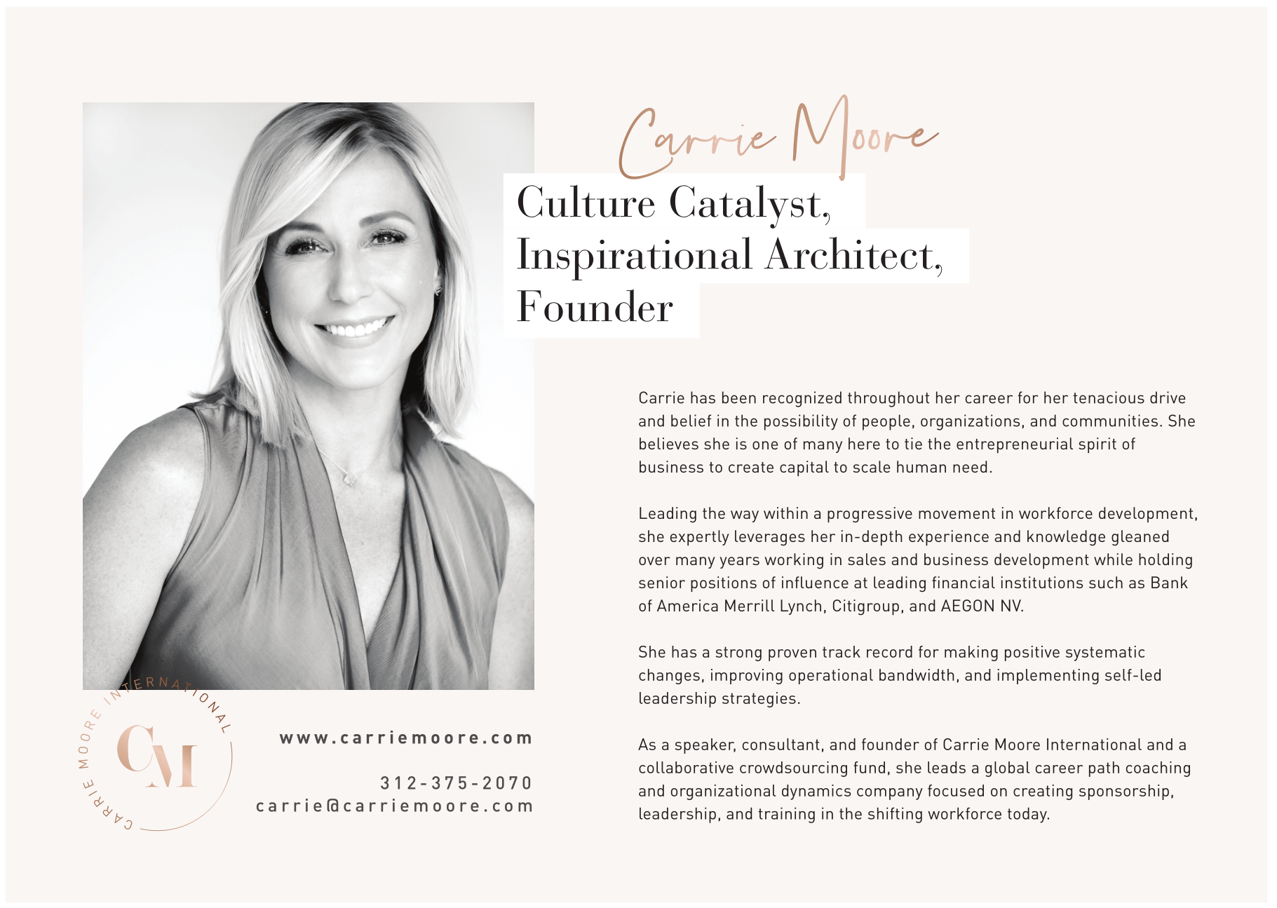 Meet our sponsor - Carrie Moore