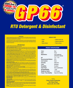 GP66 RTU Disinfectant, Detergent, And Deodorizer
