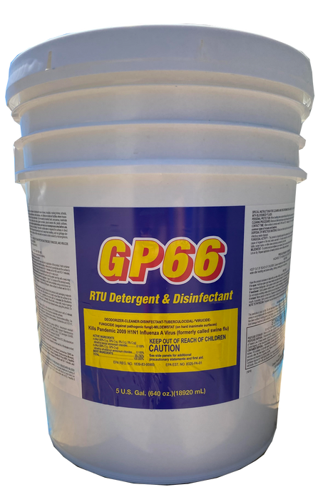 GP66 RTU Disinfectant Spray and Detergent 5 Gallons