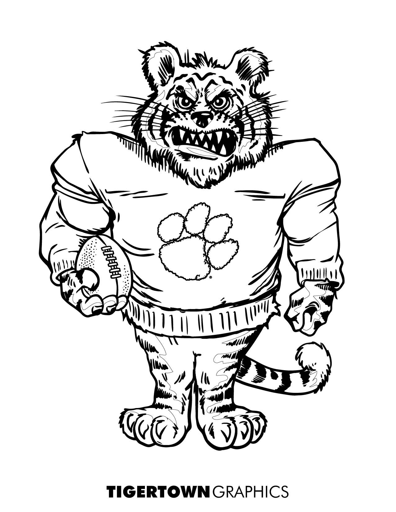 clemson football coloring pages | Coloring Pages! - Tigertown Graphics