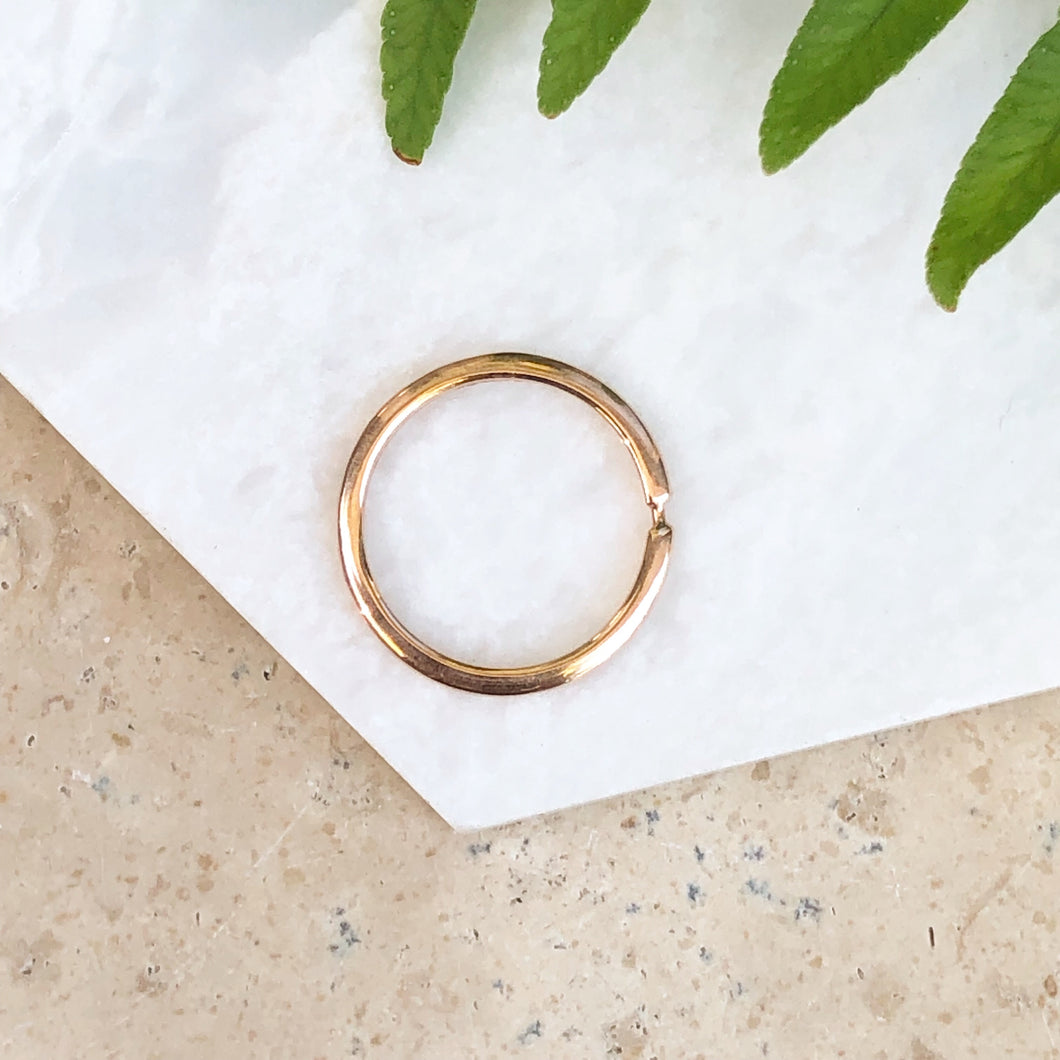 14KT Rose Gold Open Circle Slide Round Pendant Disc, 14KT Rose Gold Open Circle Slide Round Pendant Disc - Legacy Saint Jewelry
