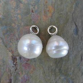 14KT White Gold Paspaley Pearl Earring Charms 12mm, 14KT White Gold Paspaley Pearl Earring Charms 12mm - Legacy Saint Jewelry