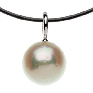 14KT White Gold Paspaley Pearl Simple Pendant Charm, 14KT White Gold Paspaley Pearl Simple Pendant Charm - Legacy Saint Jewelry