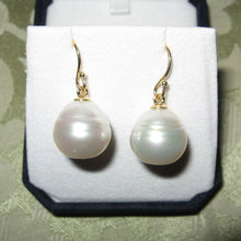 Load image into Gallery viewer, 18KT Yellow Gold Paspaley Pearl Shepard Hook Earrings 15mm, 18KT Yellow Gold Paspaley Pearl Shepard Hook Earrings 15mm - Legacy Saint Jewelry