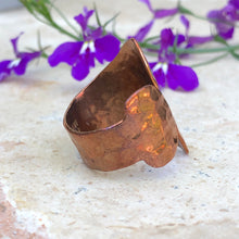Load image into Gallery viewer, Copper Hammered Negative Space Ring, Copper Hammered Negative Space Ring - Legacy Saint Jewelry