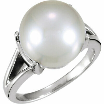 14KT White Gold Genuine Paspaley South Sea Pearl Ring, 14KT White Gold Genuine Paspaley South Sea Pearl Ring - Legacy Saint Jewelry