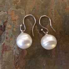 Load image into Gallery viewer, 14KT White Gold 12mm Genuine Paspaley South Sea Pearl Shepard Hook Earrings, 14KT White Gold 12mm Genuine Paspaley South Sea Pearl Shepard Hook Earrings - Legacy Saint Jewelry