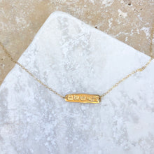 Load image into Gallery viewer, 14KT Yellow Gold Dream Plate Necklace, 14KT Yellow Gold Dream Plate Necklace - Legacy Saint Jewelry