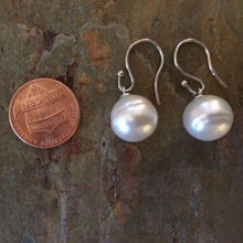 Load image into Gallery viewer, 14KT White Gold + 12mm Genuine Paspaley South Sea Pearl Shepard Hook Earrings, 14KT White Gold + 12mm Genuine Paspaley South Sea Pearl Shepard Hook Earrings - Legacy Saint Jewelry