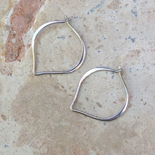 "Load image into Gallery viewer, Sterling Silver ""V"" Threader Ear Wire Hoop Earrings, Sterling Silver ""V"" Threader Ear Wire Hoop Earrings - Legacy Saint Jewelry"