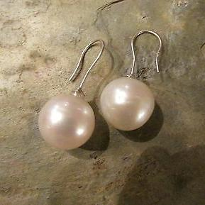 18KT White Palladium Paspaley Pearl Drop Earrings 18mm, 18KT White Palladium Paspaley Pearl Drop Earrings 18mm - Legacy Saint Jewelry