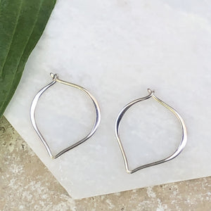 "Sterling Silver ""V"" Threader Ear Wire Hoop Earrings, Sterling Silver ""V"" Threader Ear Wire Hoop Earrings - Legacy Saint Jewelry"