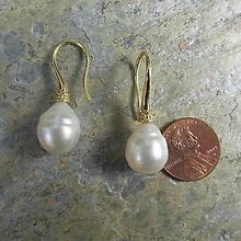 Load image into Gallery viewer, 18KT Yellow Gold Paspaley Pearl Shepard Hook Earrings, 18KT Yellow Gold Paspaley Pearl Shepard Hook Earrings - Legacy Saint Jewelry