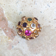 Load image into Gallery viewer, 14KT Yellow Rose Gold Sputnik Ball Multi-Gemstone Brooch, 14KT Yellow Rose Gold Sputnik Ball Multi-Gemstone Brooch - Legacy Saint Jewelry