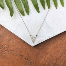 Load image into Gallery viewer, Sterling Silver Diamond Triangle Necklace, Sterling Silver Diamond Triangle Necklace - Legacy Saint Jewelry
