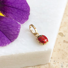 Load image into Gallery viewer, 14KT Yellow Gold Red Mini Ladybug Pendant Charm, 14KT Yellow Gold Red Mini Ladybug Pendant Charm - Legacy Saint Jewelry