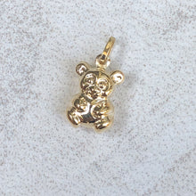 Load image into Gallery viewer, 14KT Yellow Gold 3D Teddy Bear Pendant Charm, 14KT Yellow Gold 3D Teddy Bear Pendant Charm - Legacy Saint Jewelry