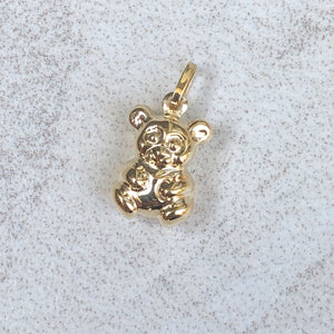 14KT Yellow Gold 3D Teddy Bear Pendant Charm, 14KT Yellow Gold 3D Teddy Bear Pendant Charm - Legacy Saint Jewelry