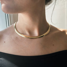 "Load image into Gallery viewer, Estate 14KT Yellow Gold Polished Domed Omega Collar Necklace 8mm/ 17"", Estate 14KT Yellow Gold Polished Domed Omega Collar Necklace 8mm/ 17"" - Legacy Saint Jewelry"