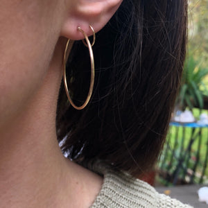 10KT Yellow Gold Polished Basic Hoop Earrings, 10KT Yellow Gold Polished Basic Hoop Earrings - Legacy Saint Jewelry