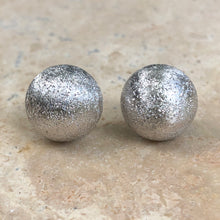 Load image into Gallery viewer, Sterling Silver Satin Diamond-Cut Half-Ball Stud Earrings, Sterling Silver Satin Diamond-Cut Half-Ball Stud Earrings - Legacy Saint Jewelry