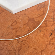 Load image into Gallery viewer, Sterling Silver Twist Omega Neck Wire Collar Necklace 1.2mm
