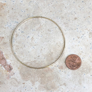 14KT Yellow Gold Thin Bangle Slip-On Bracelet 1.5mm, 14KT Yellow Gold Thin Bangle Slip-On Bracelet 1.5mm - Legacy Saint Jewelry