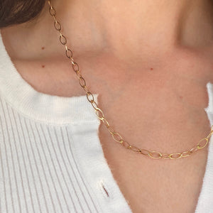 14KT Yellow Gold Polished 4mm Oval Link Necklace