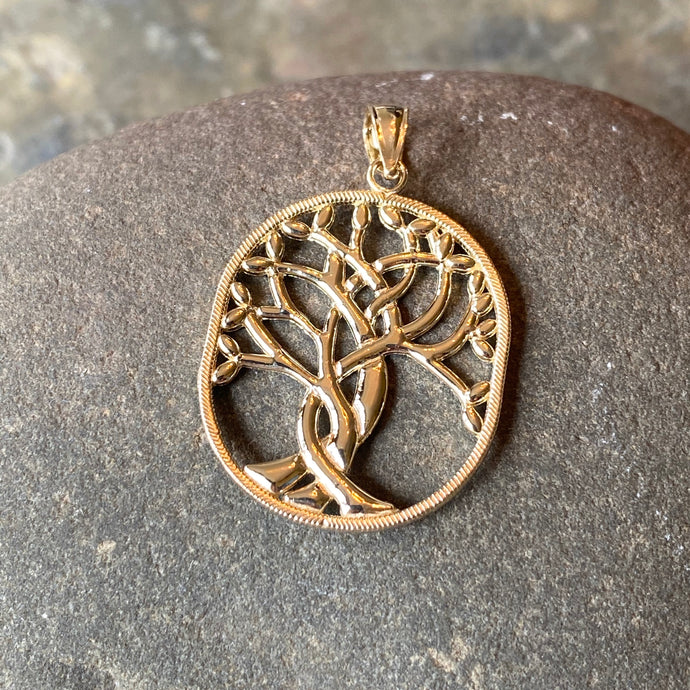 14KT Yellow Gold Polished Celtic