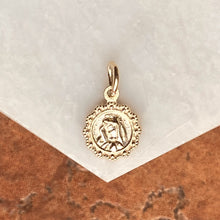 Load image into Gallery viewer, 10KT Yellow Gold Our Lady of Sorrow Mini Medal Pendant Charm, 10KT Yellow Gold Our Lady of Sorrow Mini Medal Pendant Charm - Legacy Saint Jewelry