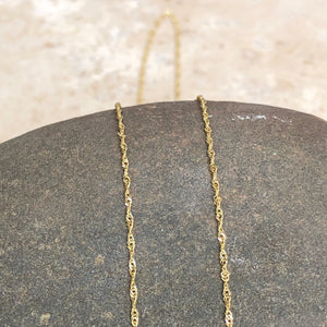 "10KT Yellow Gold Diamond-Cut Singapore Chain Necklace 22""/ .8mm, 10KT Yellow Gold Diamond-Cut Singapore Chain Necklace 22""/ .8mm - Legacy Saint Jewelry"