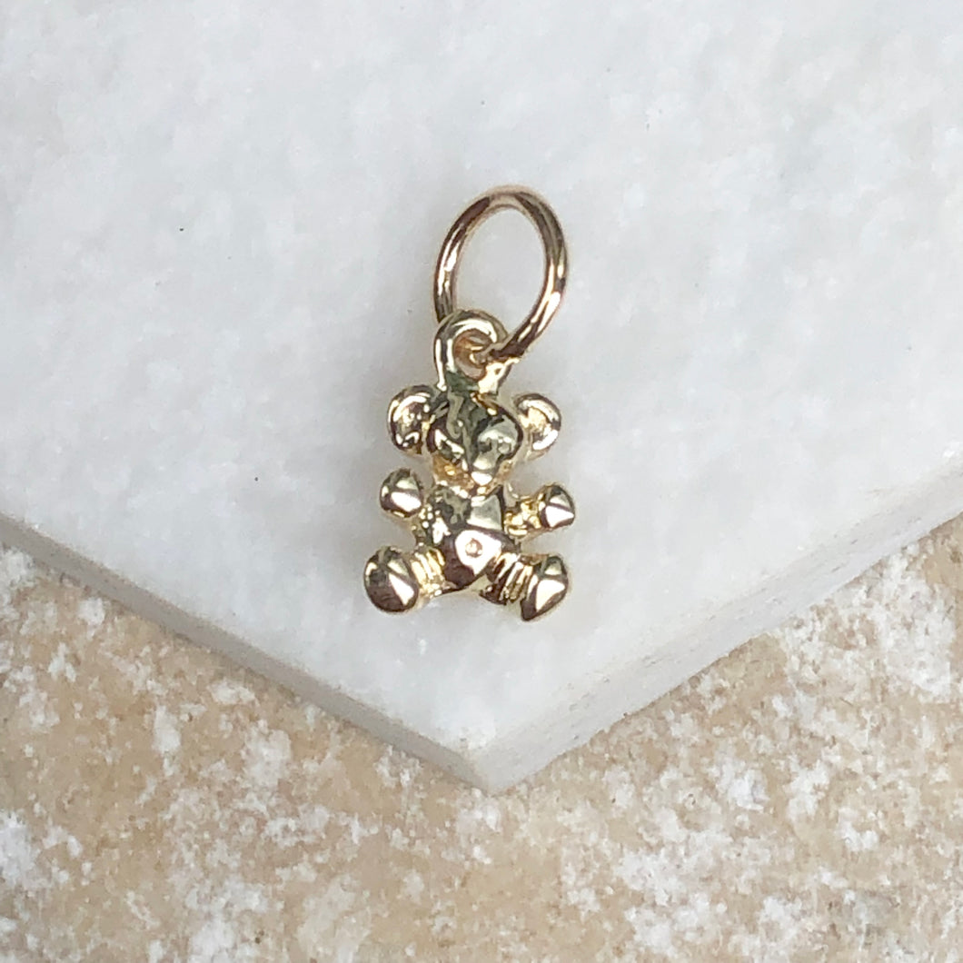 10KT Yellow Gold 3D Teddy Bear Pendant Charm, 10KT Yellow Gold 3D Teddy Bear Pendant Charm - Legacy Saint Jewelry