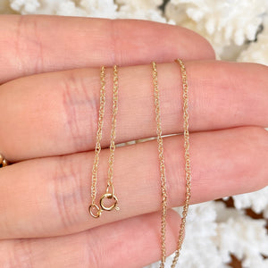 14KT Yellow Gold Polished .95mm Cable Chain Necklace