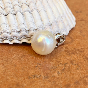 Sterling Silver 12mm Paspaley South Sea Pearl Omega Clip Enhancer Pendant