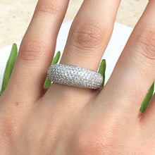 Load image into Gallery viewer, 14KT White Gold + Micro Pave Diamond Wide Design Ring Size 7, 14KT White Gold + Micro Pave Diamond Wide Design Ring Size 7 - Legacy Saint Jewelry