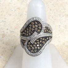 Load image into Gallery viewer, Estate 10KT White Gold .70 CT Pave White + Brown Champagne Diamond Ring, Estate 10KT White Gold .70 CT Pave White + Brown Champagne Diamond Ring - Legacy Saint Jewelry