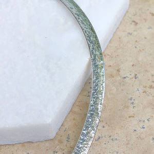 "Sterling Silver Hammered Omega Collar Necklace 17"", Sterling Silver Hammered Omega Collar Necklace 17"" - Legacy Saint Jewelry"