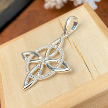 Load image into Gallery viewer, Sterling Silver Celtic Trinity Eternity Knot Pendant Charm