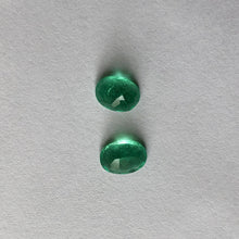 Load image into Gallery viewer, Colombian Oval Loose Emerald Pair 1.42 CT, Colombian Oval Loose Emerald Pair 1.42 CT - Legacy Saint Jewelry