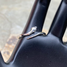 Load image into Gallery viewer, Sterling Silver Polished Snake Bypass Adjustable Ring, Sterling Silver Polished Snake Bypass Adjustable Ring - Legacy Saint Jewelry