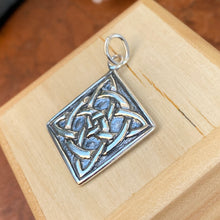Load image into Gallery viewer, Sterling Silver Square Celtic Knot Pendant Charm