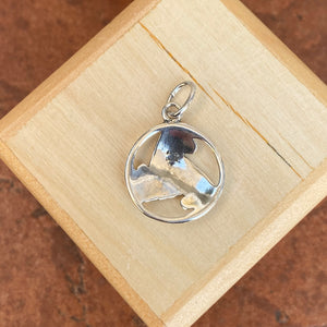 Sterling Silver Wave Celtic Trinity Circle Pendant Charm