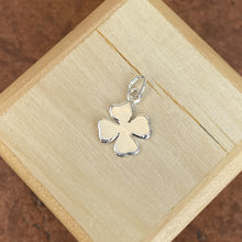 Load image into Gallery viewer, Sterling Silver Polished 4-Leaf Clover Pendant Charm